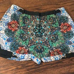 Topshop top shop colorful shorts size 12